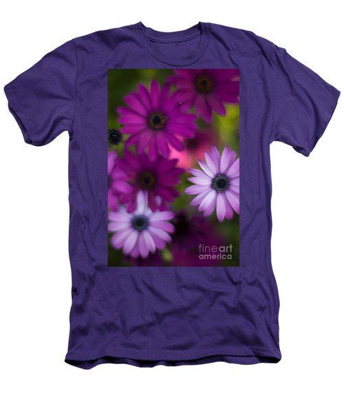 African Daisy Collage Men's T-Shirt (Slim Fit) by Mike Reid