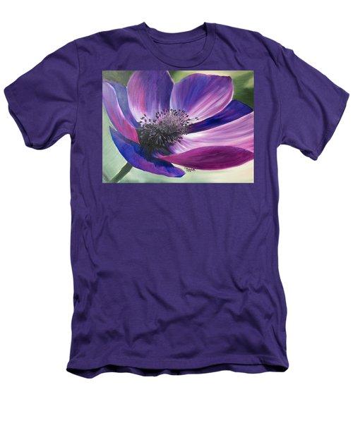 Anemone Coronaria Men's T-Shirt (Athletic Fit)