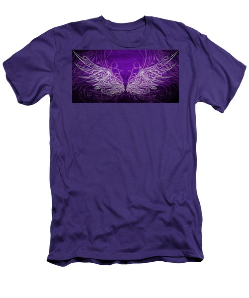 Angel Wings Royal Men's T-Shirt (Slim Fit) by Angelina Vick
