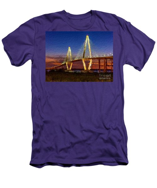 Arthur Ravenel Bridge At Evening  Men's T-Shirt (Athletic Fit)