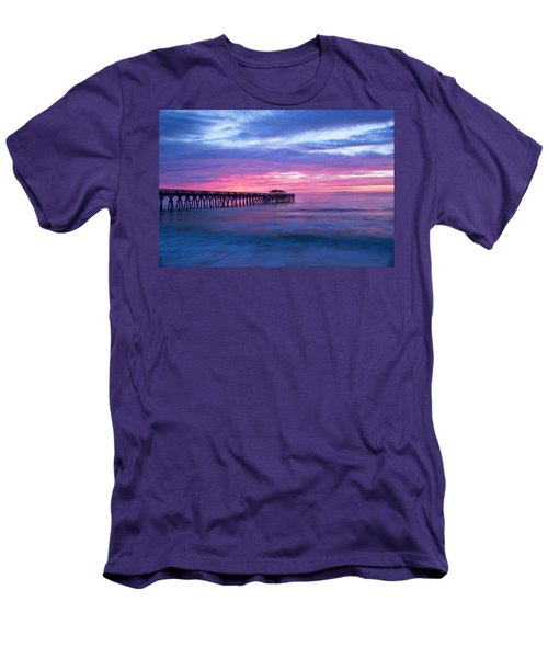 Myrtle Beach State Park Pier Sunrise Men's T-Shirt (Athletic Fit)