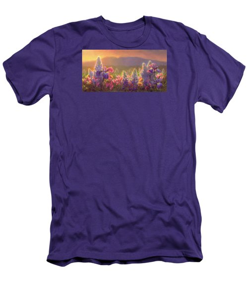 Awakening - Mt Susitna Spring - Sleeping Lady Men's T-Shirt (Slim Fit) by Karen Whitworth