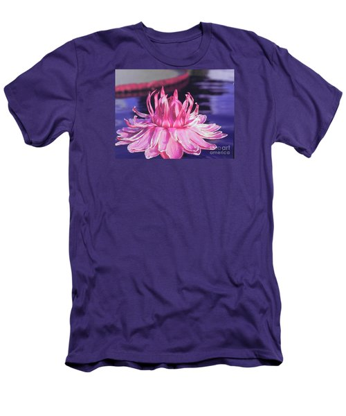 Beauty Of Pink At The Ny Botanical Gardens Men's T-Shirt (Slim Fit) by Chrisann Ellis
