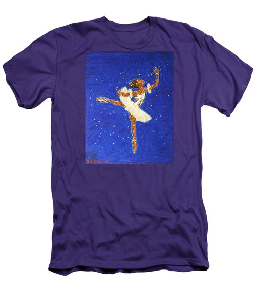 Black Ballerina Men's T-Shirt (Athletic Fit)