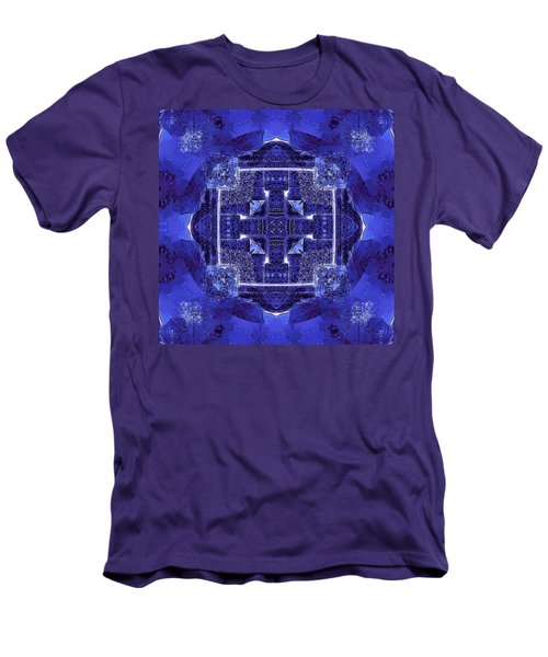 Blue Cross Radiance Men's T-Shirt (Slim Fit) by David Mckinney