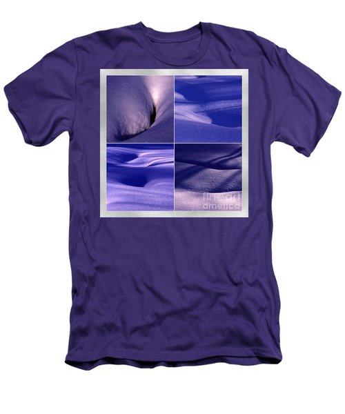 Blue Snow Men's T-Shirt (Slim Fit) by Randi Grace Nilsberg