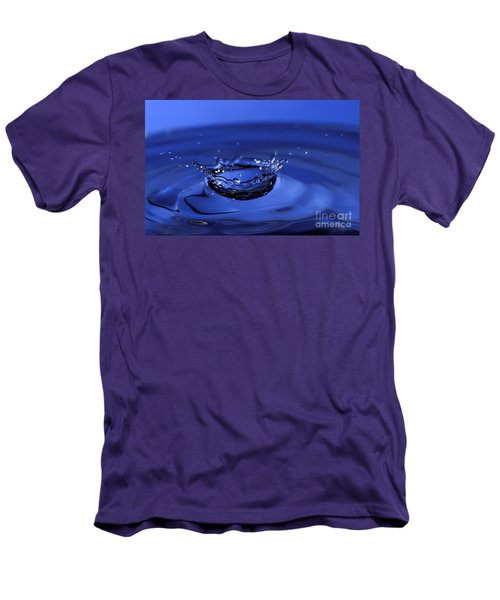 Blue Water Splash Men's T-Shirt (Slim Fit)