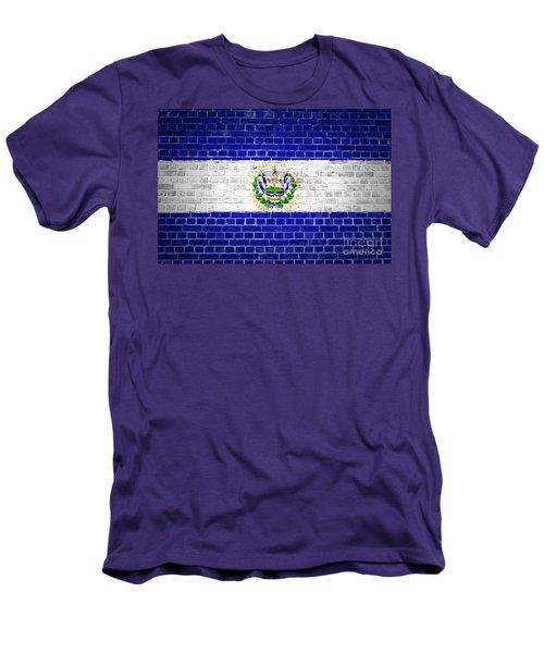 Brick Wall El Salvador Men's T-Shirt (Slim Fit) by Antony McAulay