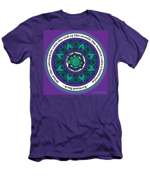 Celtic Butterfly Mandala Men's T-Shirt (Athletic Fit)