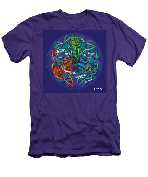 Celtic Mermaid Mandala Men's T-Shirt (Athletic Fit)