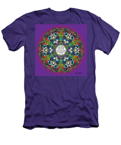 Celtic Spring Fairy Mandala Men's T-Shirt (Athletic Fit)