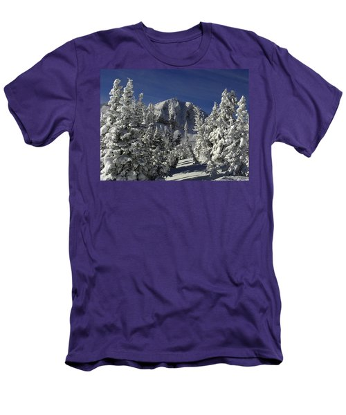 Cody Peak After A Snow Men's T-Shirt (Slim Fit) by Raymond Salani III