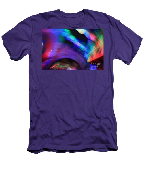 Men's T-Shirt (Slim Fit) featuring the pyrography Color Tunnel  by Chris Thomas