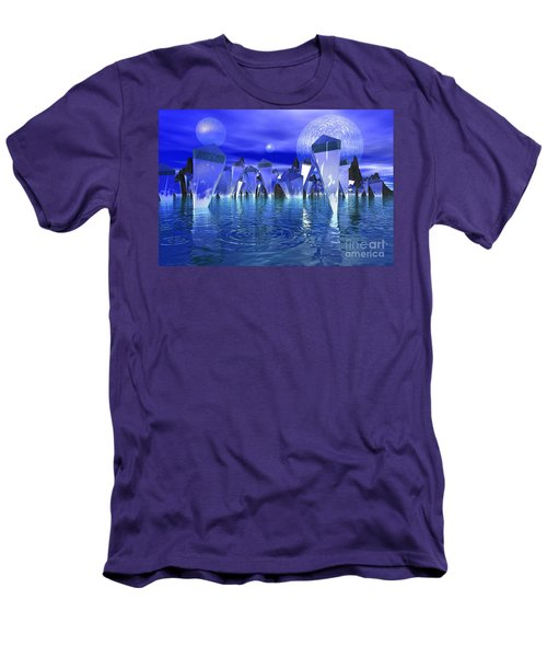 Men's T-Shirt (Slim Fit) featuring the photograph Crystal River by Mark Blauhoefer