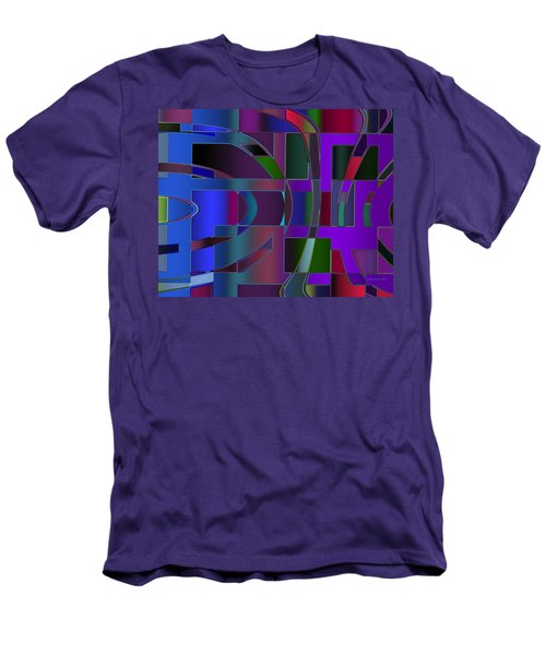 Curves And Trapezoids 2 Men's T-Shirt (Slim Fit) by Judi Suni Hall
