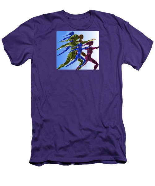 Men's T-Shirt (Slim Fit) featuring the digital art Dancers by Mary Armstrong
