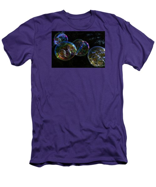 Men's T-Shirt (Slim Fit) featuring the photograph Dark Bubbles With Babies by Nareeta Martin