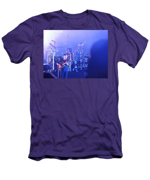 Dave Matthews Jamming In Tampa Flordia  Men's T-Shirt (Slim Fit) by Aaron Martens
