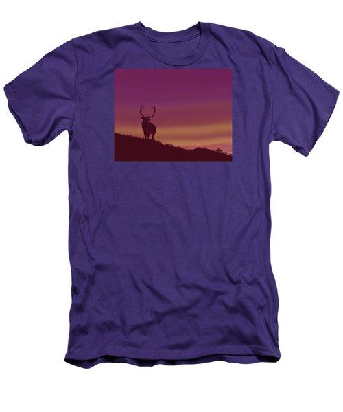 Elk At Dusk Men's T-Shirt (Slim Fit) by Terry Frederick
