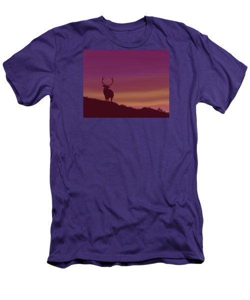 Elk At Dusk Men's T-Shirt (Athletic Fit)