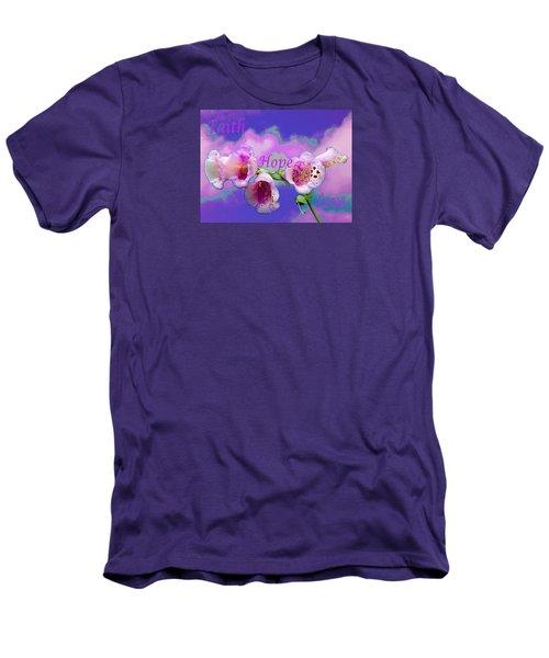 Faith-hope-love Men's T-Shirt (Athletic Fit)