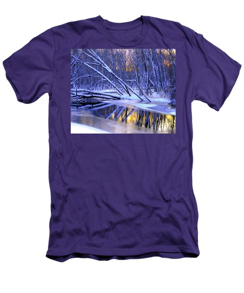 Men's T-Shirt (Slim Fit) featuring the photograph Falling by Terri Gostola