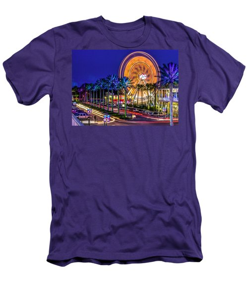 Ferris Wheel At The Wharf Men's T-Shirt (Athletic Fit)