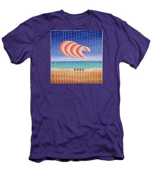 Five Beach Umbrellas Men's T-Shirt (Athletic Fit)