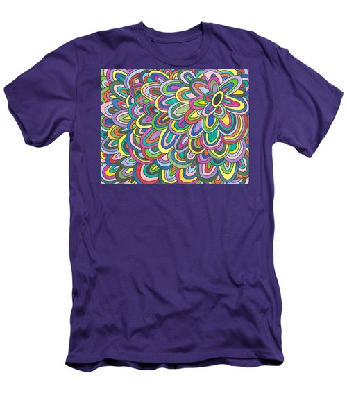 Men's T-Shirt (Slim Fit) featuring the painting Flower Power by Susie Weber