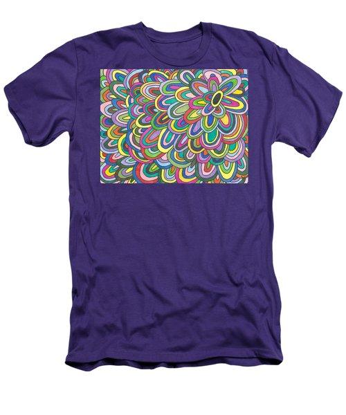 Flower Power Men's T-Shirt (Slim Fit) by Susie Weber