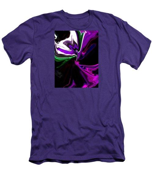 Purple Rain Homage To Prince Original Abstract Art Painting Men's T-Shirt (Slim Fit) by RjFxx at beautifullart com