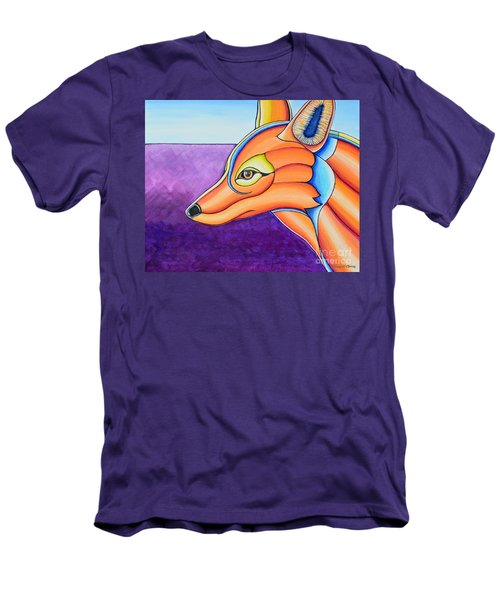 Men's T-Shirt (Slim Fit) featuring the painting Fox 1 by Joseph J Stevens