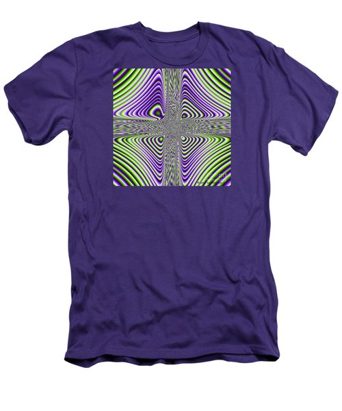 Men's T-Shirt (Slim Fit) featuring the digital art Fractal Four by Joan Hartenstein