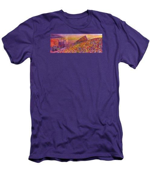 Furthur At Redrocks 2011 Men's T-Shirt (Slim Fit) by David Sockrider
