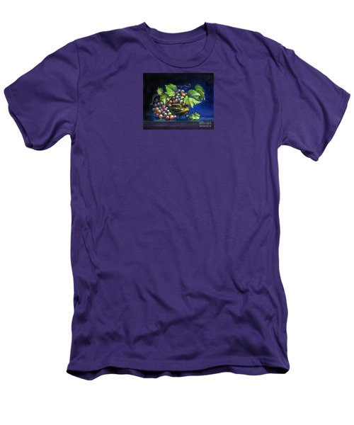 Men's T-Shirt (Athletic Fit) featuring the painting Grapes In A Footed Bowl by Jane Bucci