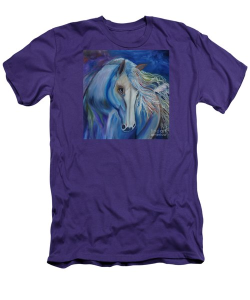 Men's T-Shirt (Slim Fit) featuring the painting Gypsy Shadow by Jenny Lee
