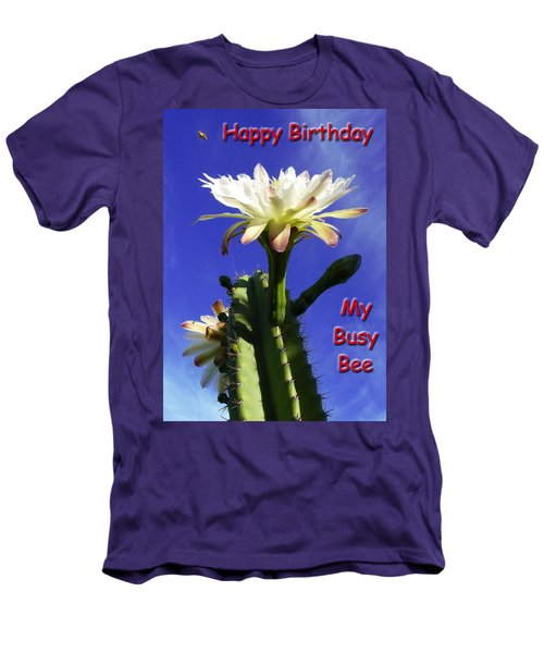 Men's T-Shirt (Slim Fit) featuring the photograph Happy Birthday Card And Print 15 by Mariusz Kula