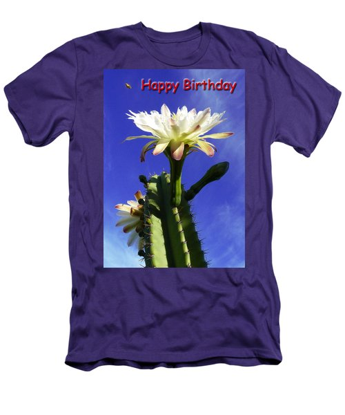 Men's T-Shirt (Slim Fit) featuring the photograph Happy Birthday Card And Print 16 by Mariusz Kula