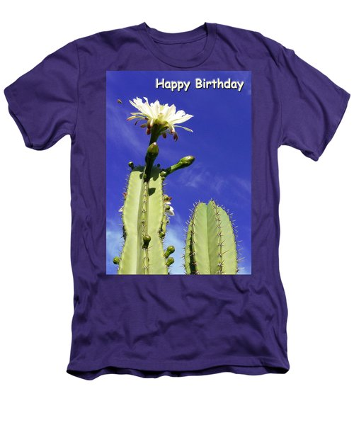 Men's T-Shirt (Slim Fit) featuring the photograph Happy Birthday Card And Print 17 by Mariusz Kula