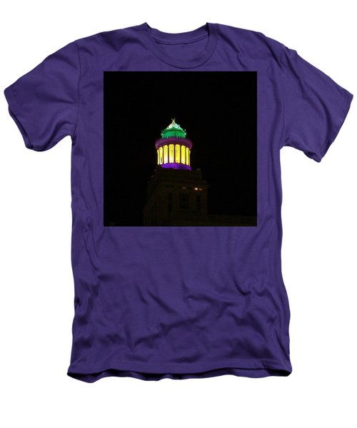 Hibernia Tower - Mardi Gras Men's T-Shirt (Athletic Fit)