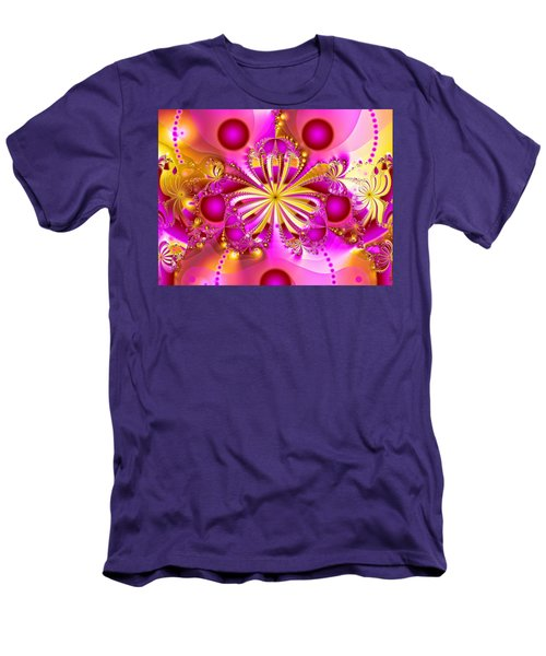 Hot Orchid Men's T-Shirt (Slim Fit) by Sylvia Thornton