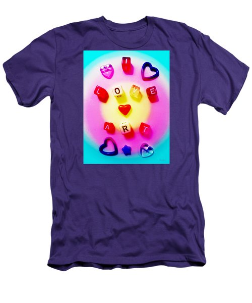 Men's T-Shirt (Slim Fit) featuring the photograph I Love Art by Shawna Rowe