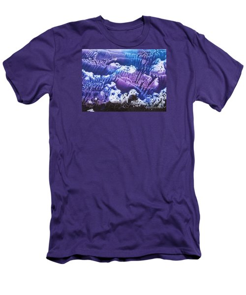 Men's T-Shirt (Slim Fit) featuring the painting Imagination 3 by Vesna Martinjak
