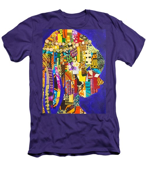 Men's T-Shirt (Athletic Fit) featuring the tapestry - textile Imani by Apanaki Temitayo M