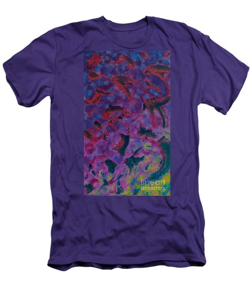 Men's T-Shirt (Slim Fit) featuring the painting In The Mind's Eye by Jacqueline McReynolds