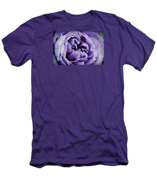 Lavender Motive Men's T-Shirt (Slim Fit) by Jean OKeeffe Macro Abundance Art