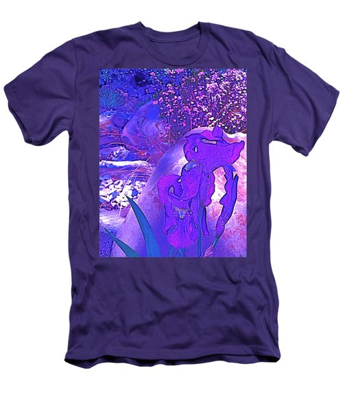 Men's T-Shirt (Slim Fit) featuring the photograph Iris 2 by Pamela Cooper