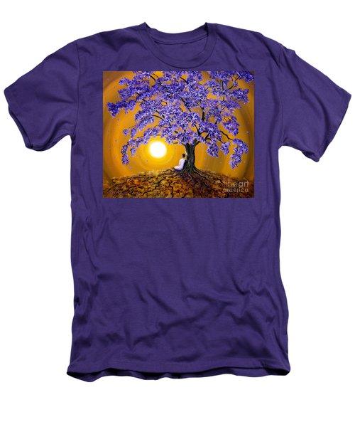 Jacaranda Sunset Meditation Men's T-Shirt (Slim Fit) by Laura Iverson