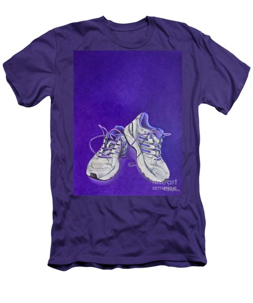 Men's T-Shirt (Slim Fit) featuring the painting Karen's Shoes by Pamela Clements