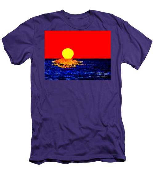 Kona Sunset Pop Art Men's T-Shirt (Slim Fit) by David Lawson